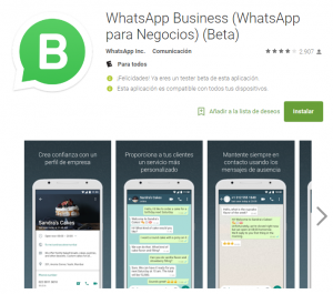 WhatsApp Business on the Play Store